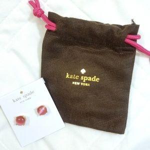 Pink Kate Spade button earings